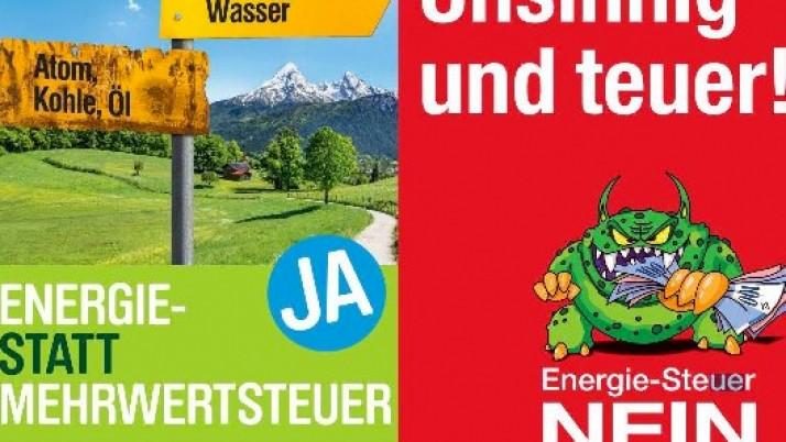 NEIN zur Volksinitiative<br/>«Energie- statt Mehrwertsteuer»